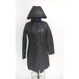 Kenneth Cole New York Hooded Chevron Quilted Coat